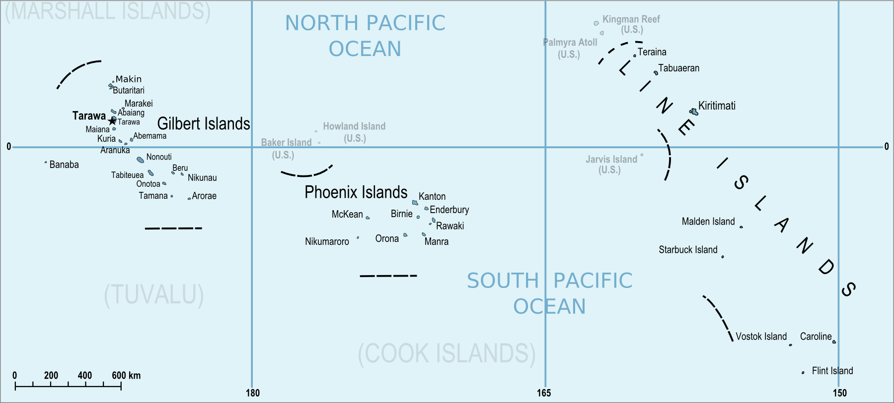 Islands Of Kiribati - Kiribati map